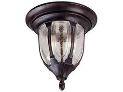 Savoy House Outdoor Living Tudor Bark & Gold Two-Light Outdoor Flush Mount Light