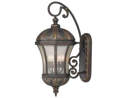 Savoy House Outdoor Living Ponce De Leon Old Tuscan Four-Light Outdoor Wall Light