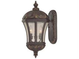 Savoy House Outdoor Living Ponce De Leon Old Tuscan Three-Light Outdoor Wall Light