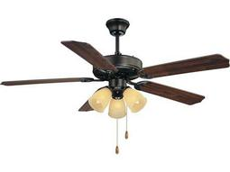 Savoy House Main Street First Value English Bronze Three-Light 52W Ceiling Fan