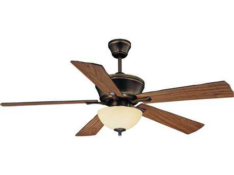 Savoy House Main Street St. Simons Old Bronze Three-Light 52W Ceiling Fan