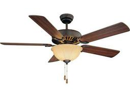 Savoy House Main Street Barbour Island English Bronze Three-Light 52W Ceiling Fan
