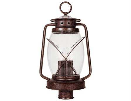 Savoy House Outdoor Living Smith Mountain New Tortoise Shell Three-Light Outdoor Post Light
