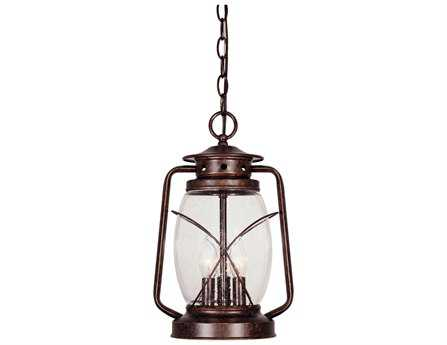 Savoy House Outdoor Living Smith Mountain New Tortoise Shell Three-Light Outdoor Hanging Pendant