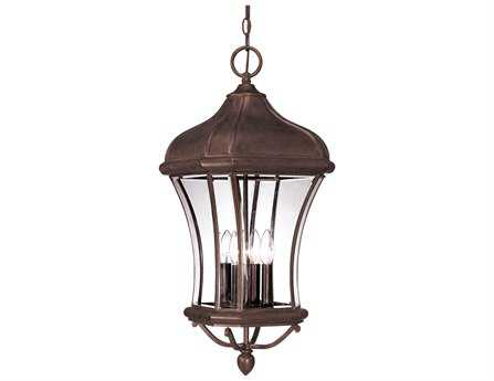 Savoy House Outdoor Living Realto Walnut Patina Four-Light Outdoor Hanging Pendant