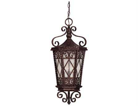 Savoy House Outdoor Living Felicity New Tortoise Shell Three-Light Outdoor Hanging Pendant