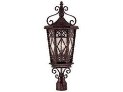 Savoy House Outdoor Living Felicity New Tortoise Shell Three-Light Outdoor Post Light