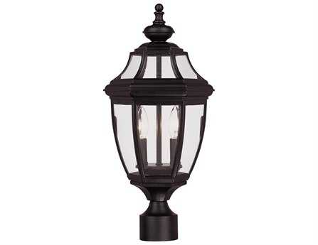 Savoy House Outdoor Living Endorado Black Two-Light Outdoor Post Light