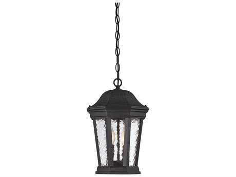 Savoy House Hampden Black Two-Light 9.63'' Wide Outdoor Pendant Light with Metal Candle Cover