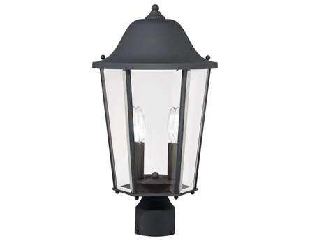 Savoy House Outdoor Living Truscott Black Two-Light Outdoor Post Light