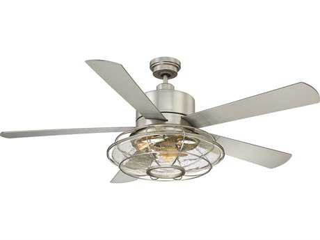 Savoy House Connell Satin Nickel 56'' Five-Blade Ceiling Fan with Light Kit