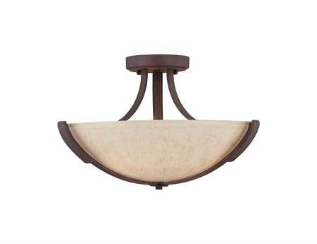 Savoy House Rustica Berkley Heritage Bronze Three-Light Semi-Flush Mount Light