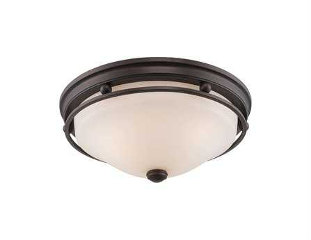 Savoy House English Bronze Three-Light Flush Mount Light