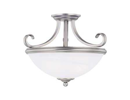Savoy House Main Street Willoughby Pewter Two-Light Semi-Flush Mount Light