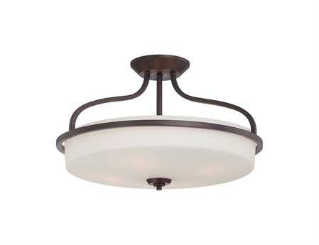 Savoy House Main Street Charlton English Bronze Four-Light Semi-Flush Mount Light