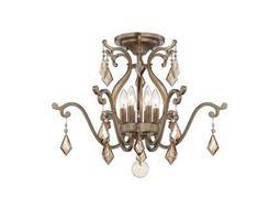 Savoy House Today's Classic Style Rothchild Oxidized Silver Six-Light Semi-Flush Mount Light