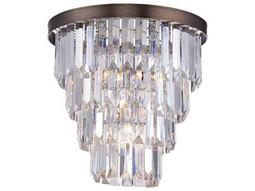 Savoy House Today's Classic Style Tierney Burnished Bronze Four-Light Semi-Flush Mount Light