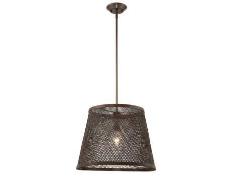 Savoy House Messina Architectural Bronze 20'' Wide Pendant Ceiling Light with Soft White Shade and Clear Seedy Glass