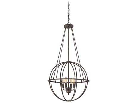 Savoy House Elgin Galaxy Bronze Four-Light 20'' Wide Mini-Chandelier with Metal Candle Cover
