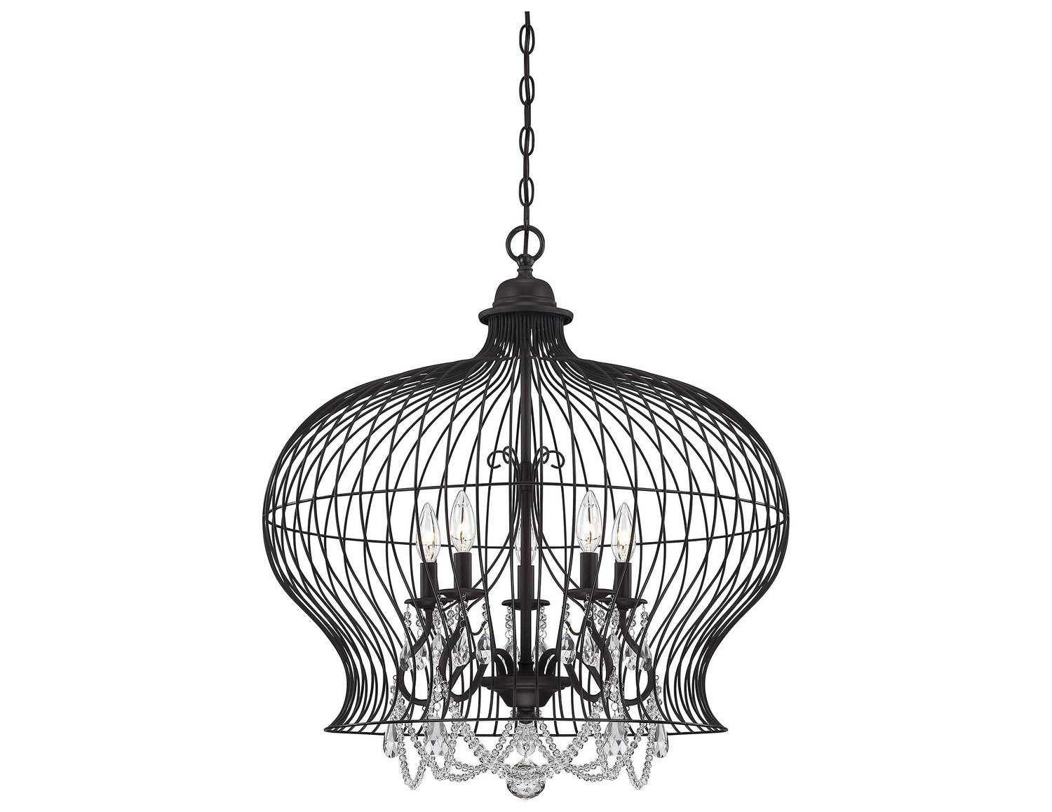 savoy house french country abagail forged black five light
