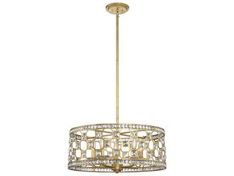 Savoy House Clarion Gold Bullion Five-Light 23.75'' Wide Mini-Chandelier with Clear Crystal and Metal Candle Cover