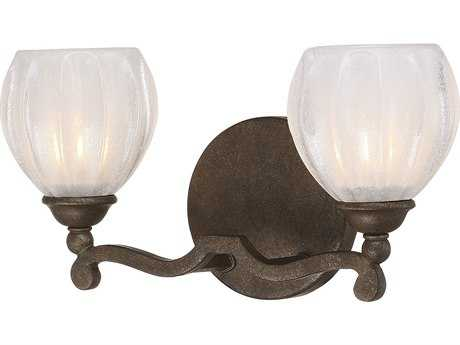 Savoy House Stuart Galaxy Bronze Two-Light Vanity Light with White Opalescent Glass