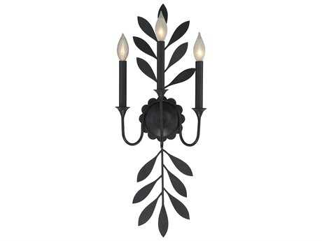 Savoy House Trumpet Aged Iron Three-Light 10.25'' Wide Wall Sconce