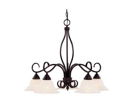 Savoy House Main Street Oxford English Bronze Five-Light 29'' Wide Chandelier