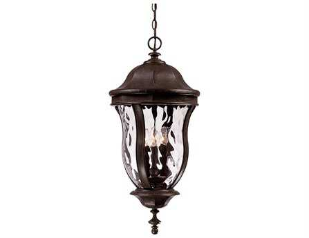 Savoy House Outdoor Living Monticello Walnut Patina Four-Light Outdoor Hanging Pendant