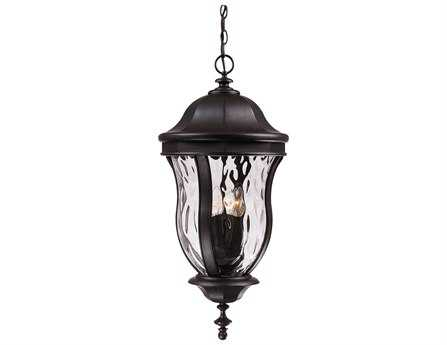 Savoy House Outdoor Living Monticello Black Four-Light Outdoor Hanging Pendant