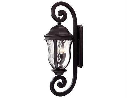 Savoy House Outdoor Living Monticello Black Four-Light Outdoor Wall Light