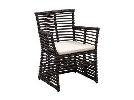 Sunset West Venice Wicker Dining Arm Chair