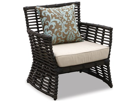 Sunset West Quick Ship Venice Wicker Club Chair