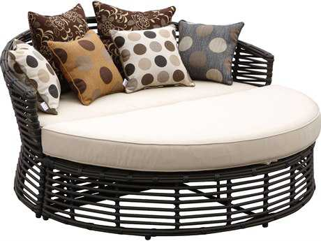 Sunset West Quick Ship Venice Wicker 2-Piece Daybed