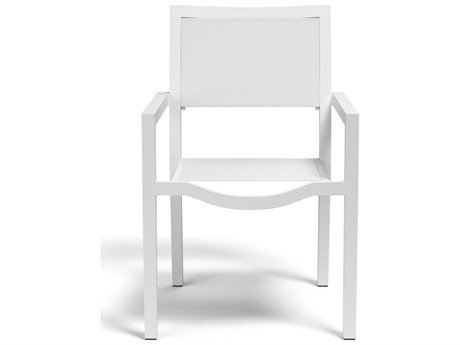 Sunset West Naples Sling Aluminum Stackable Dining Arm Chair