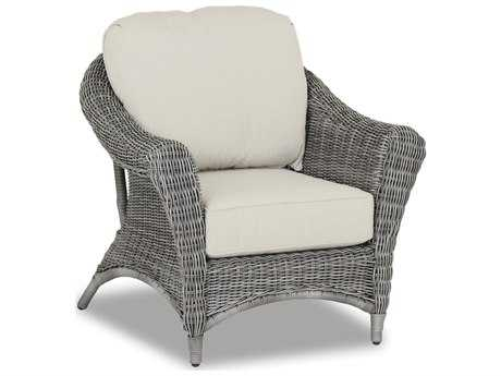 Sunset West Quick Ship La Costa Wicker Club Chair