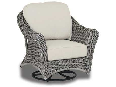 Sunset West Quick Ship La Costa Wicker Swivel Rocking Club Chair