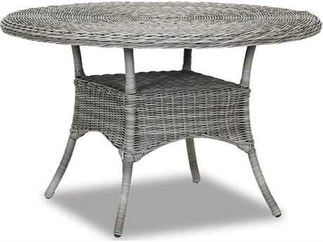 Sunset West Quick Ship La Costa Wicker 48 Round Dining Table