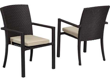 Sunset West Solana Wicker Dining Arm Chair