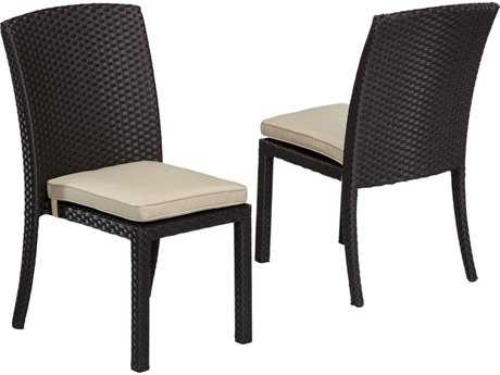 Sunset West Quick Ship Solana Wicker Armless Stacking Dining Chair