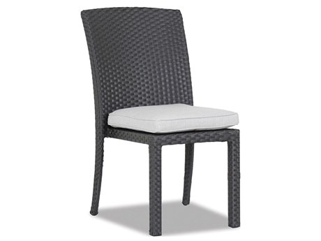 Sunset West Solana Wicker Armless Stacking Dining Chair