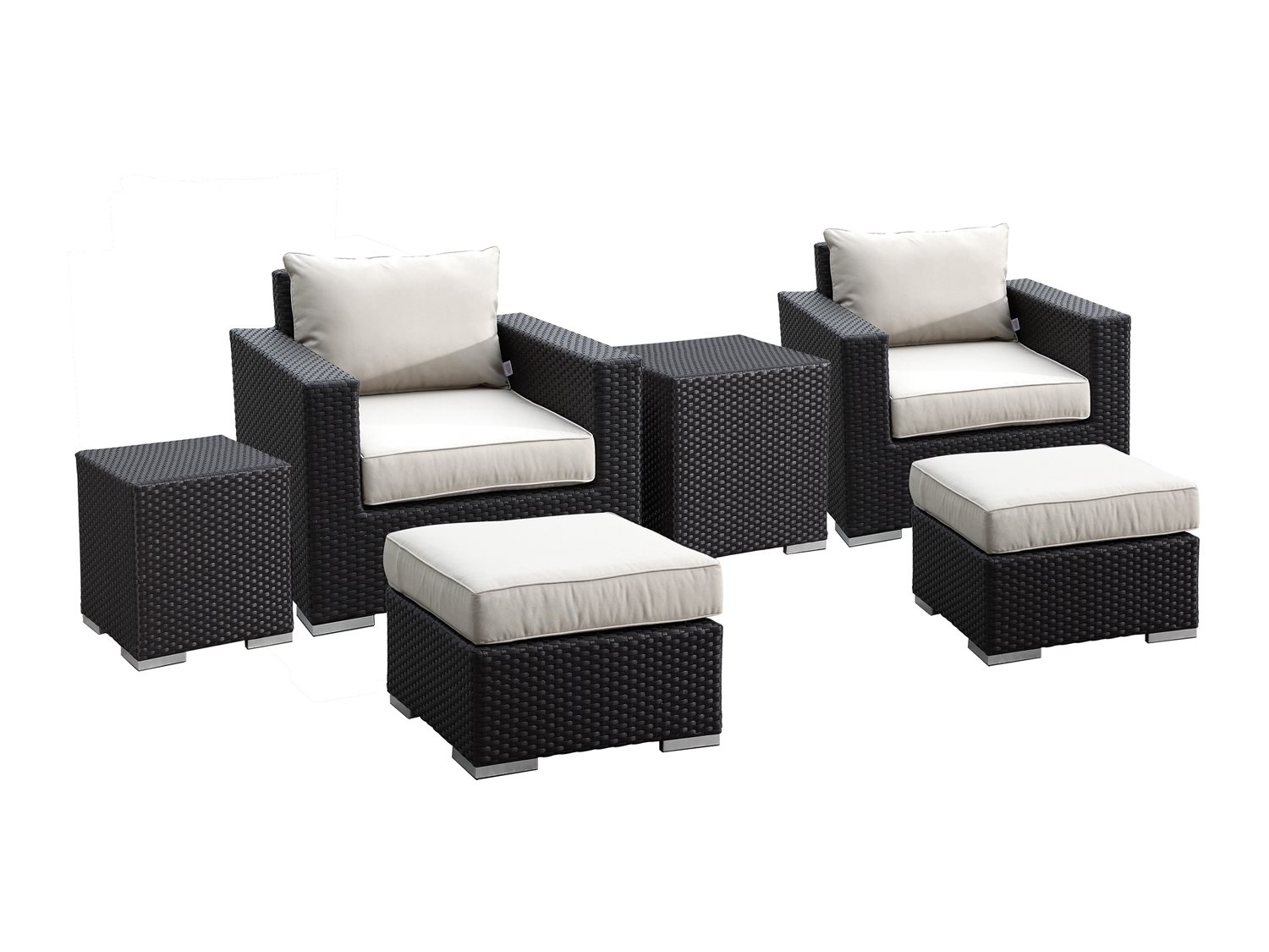 Sunset West Solana Wicker Club Chairs Ottomans And Nesting