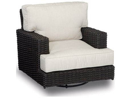 Sunset West Quick Ship Solana Wicker Swivel Rocking Club Chair SW150121SR5422