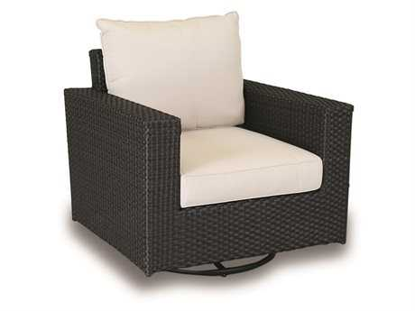Sunset West Solana Wicker Swivel Rocking Club Chair