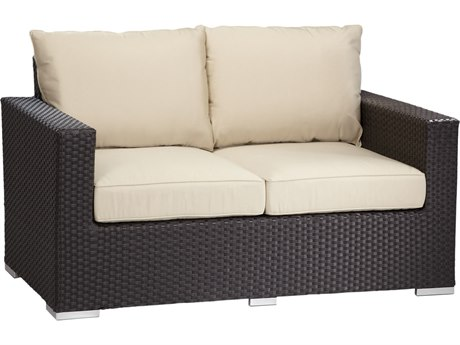 Sunset West Quick Ship Solana Wicker Loveseat