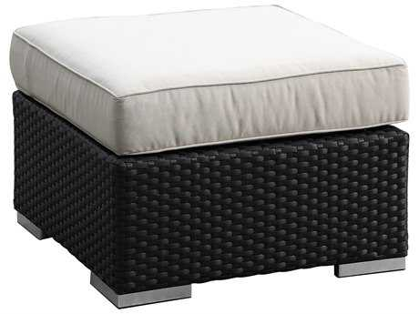 Sunset West Solana Wicker Square Ottoman