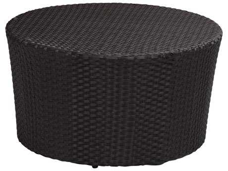 Sunset West Quick Ship Solana Wicker 32 Round Coffee Table