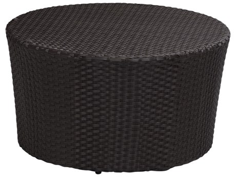 Sunset West Quick Ship Solana Wicker 32 Round Coffee Table PatioLiving