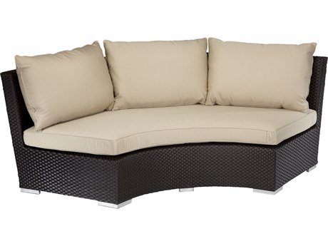 Sunset West Quick Ship Solana Wicker 1/4 Round Sofa