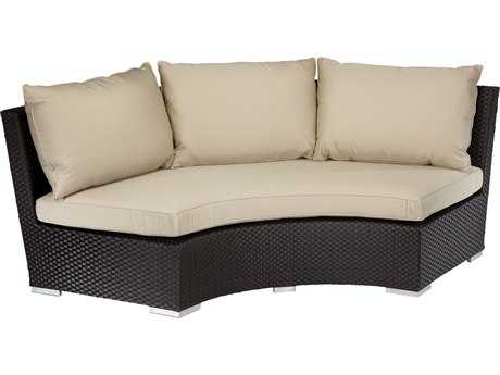 Sunset West Solana Wicker 1/4 Round Sofa
